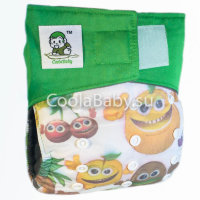 Crazy fruits (Липучки Black) CoolaBaby
